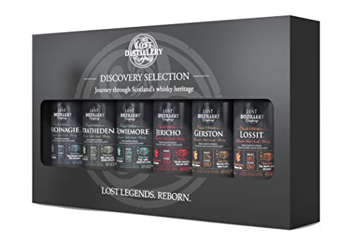 The Discovery Selection by The Lost Distillery Company - Limited edition gift pack of 6 x 5cl glass miniature bottles. 43{39efc037e3d20d30d43b470e0216308600b63dad283ca3c14214756f2323b16a} Abv.