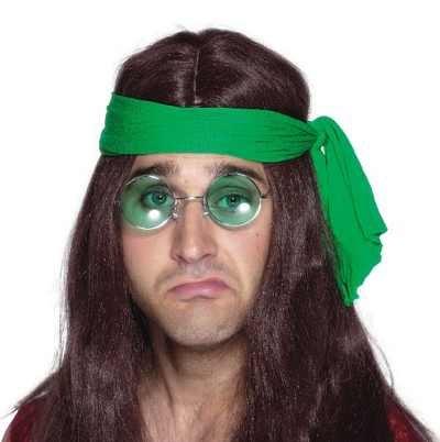 Smiffy\'s-6795 Gafas hippie, lentes de colores surtidos, plata, No es applicable (6795)