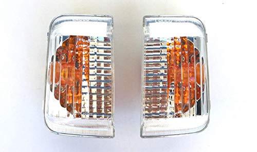 Pro!Carpentis Blinker Spiegelblinker rechts und links kompatibel mit Ducato Boxer Jumper ab Baujahr 2006- klares Glas mit gelbem Reflektor