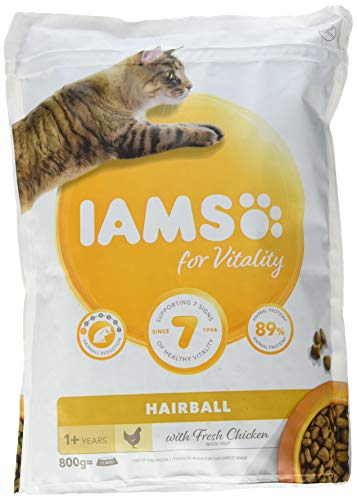 Iams For Vitality Hairball Control Cat Food With Fresh...