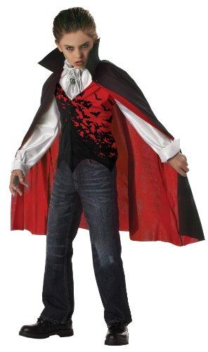 Prince Of Darkness Dracula Vampire Child Costume Medium 8-10