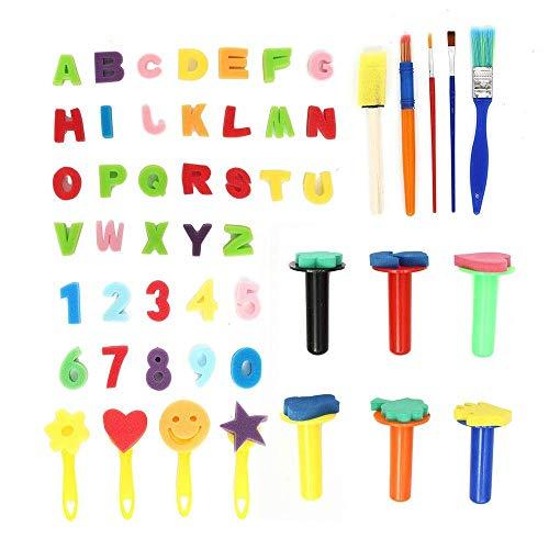 Jsmhh Pinsel-Set 51pcs Graffiti Malerei Kinder Malpinsel Blumen-Werkzeug Spielzeug Kinder Geschenke for Kinder Künstler Studenten Teen (Farbe: Mehrfarbig, Größe: 51pcs)