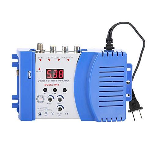 Sojare Modulador de RF, convertidor AV-RF AV-TV con diseño ergonómico, señales de Salida de RF y TV, Amplificador de señal VHF UHF para receptores de satélite,cámaras CCD, VCR, DVD, etc.(EU)