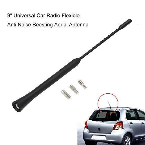 Antenna universale per auto, 29cm, colore: nero