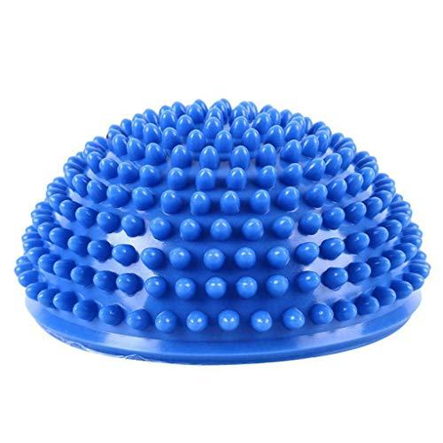 Garispace 1pc Übungsball Mini Übungs Yoga Ball Gymnastikball Unterstützt Yoga Ball Aufblasbare Hemisphäre Yoga Ball Massage Fitnesslehrer Pilates Übungsball (Blau)