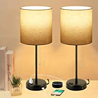 Set of 2 KBest Bedside Table Lamps