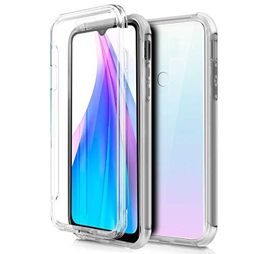 iGlobalmarket Funda 360 para Xiaomi Redmi Note 8T - Carcasa Completa [360] de [Silicona] para móvil - (Frontal + Trasera Transparente)
