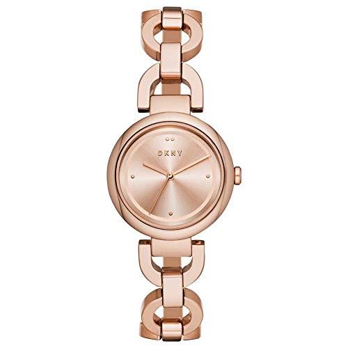 DKNY Damen-Uhren Analog Quarz One Size Roségold Edelstahl 32003416