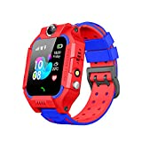 Waterproof Kids Smart Watch LBS Tracker - Boys Girls for 3-12 Year Old with SOS Camera Alarm Call Camera Alarm Touch Screen SOS Electronic Toy Birthday Gifts (Waterproof Red)