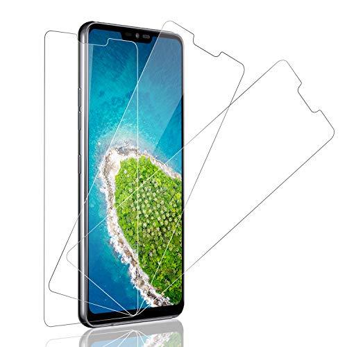 SNUNGPHIR Pellicola Protettiva per LG G7 ThinQ, 3 Pezzi Vetro Temperato per LG G7 ThinQ, Durezza 9H, 0,33mm Ultra Trasparente, Ultra Resistente, [Senza Bolle] Non Coprire l'intero Schermo
