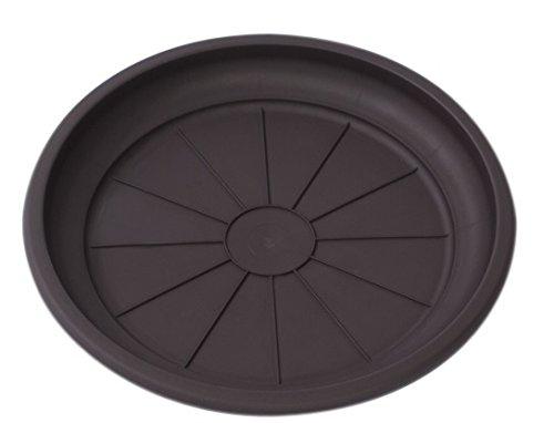 Hobby&Style 14771.0 Soucoupe pour Pot rotin, wengé, 20 x 20 x 2,5 cm