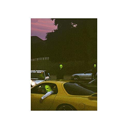 Inked and Screened JACKBOYS & Travis Scott Art Music Album Poster HD Print, 16x24(40x60cm)