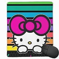 ハローキティのカラー壁紙 マウスパッド おしゃれ 高級感 ゲーミング オフィス最適 滑り止めゴム底 付着力が強い 耐久性が良 22x18x0.3cm