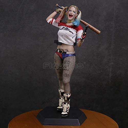 XFHJDM-WJ Puppe Verrücktes Spielzeug Selbstmordkommando Harley Quinn Sammlerfigur im Maßstab 1/6 Modell Modell Spielzeug 28,5 cm-0301