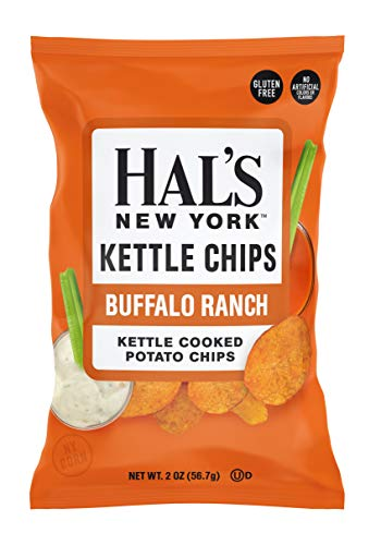 Hal's New York Kettle Cooked Potato Chips, Gluten Free (Buffalo Ranch, 2 oz Bag (Pack of 24))