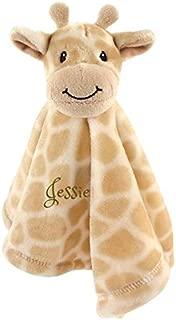 Personalized Premium Safe Animal Security Blanket Giraffe Blanket | Baby Blanket | Free Custom Monogram/Name Embroidered -Ideal for Baby Shower/Birth Present (Giraffe)
