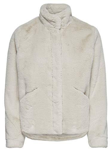 ONLY Damen Onlvida Faux Fur Jacket OTW Noos Jacke, Grau (Pumice Stone Pumice Stone), Small