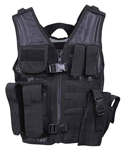 Rothco Kid's Tactical Cross Draw Vest, Black