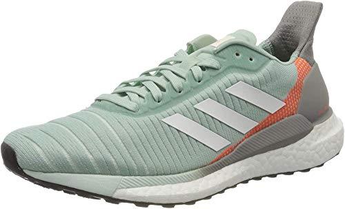 adidas Solar Glide 19 W, Zapatillas para Correr Mujer, Green Tint/FTWR White/Signal Coral, 38 EU