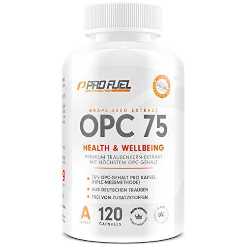 OPC Traubenkernextrakt hochdosiert – vegan, laborgeprüft mit 75{2b207cd7a448a86f1b70ca79f747205e1656aeedc69aa849c0bfa0c8cc728181} OPC-Gehalt (HPLC) | 660mg OPC aus deutschen Traubenkernen | Hochwertige Antioxidantien | 120 Kapseln (2 Monate)