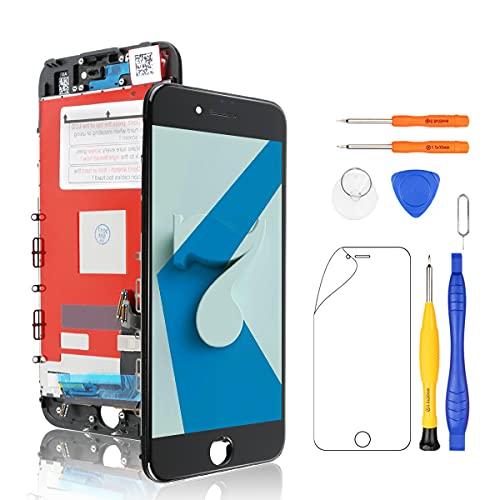 Yodoit Skärm för iPhone 7 LCD Display Pekskärm Glas 4,7 Svart, med Reparation Verktygssats