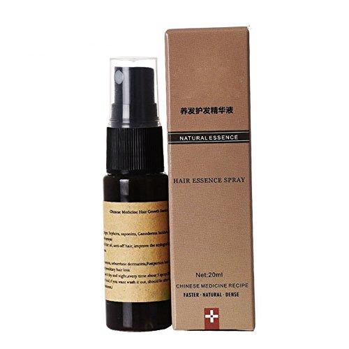 Brume de jet d'huile essentielle de croissance de cheveux de KAYI, anti perte de cheveux, extrait de gingembre et de fines herbes