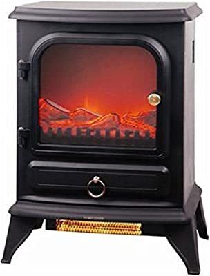 2000w Log Burning Flame Effect Stove Heater Electric Fire Fireplace Fan New