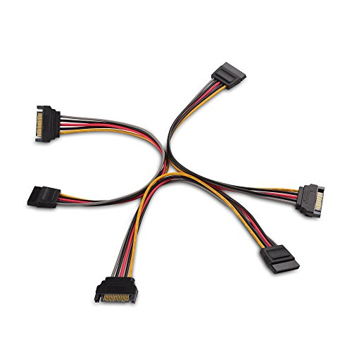 Cable Matters 3-Pack 15 Pin SATA Power Extension Cable 8 Inches