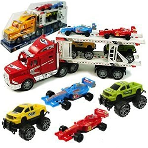 venta caliente en línea High Powerojo Truck  Strong Power Truck Series Auto Auto Auto Carrier W 4 Extra Cars Toy for Kids (Colors May Vary) by Toys Factory  ventas directas de fábrica