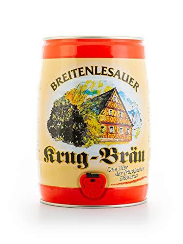 Krug Bräu Breitenlesauer Lagerbier aus Franken dunkel 5.0l Dose Partyfass