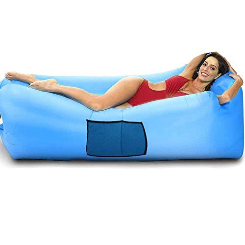 Wasserdichtes aufblasbares Sofa Luft Sofa Couch Air Lounger Perfekt für Wanderausrüstung, Strandkorb und Musikfestivals (Blau)