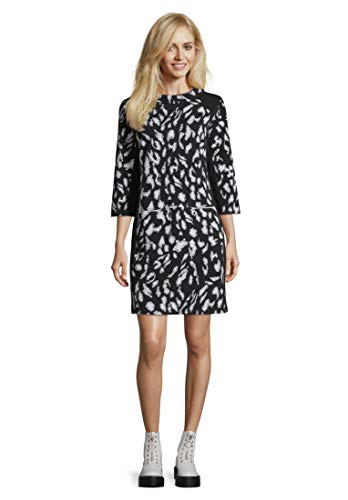 Betty Barclay Damen 1002/1098 Kleid, Mehrfarbig (Black/Cream 9812), (Herstellergröße: 42)