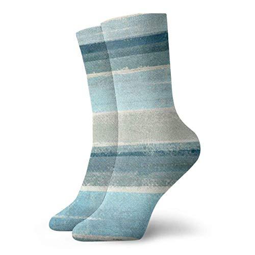 Kevin-Shop Graue Moderne Blaue und graue abstrakte Malstrümpfe für Frauen und Männer ist am besten graduiert Athletisch, Laufen, Fliegen, Reisen
