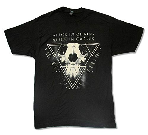 Alice in Chains Tri Cell Black T Shirt New Official Adult