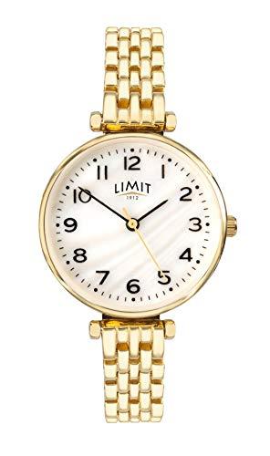 Limit dames gouden toon armband horloge witte wijzerplaat 6497