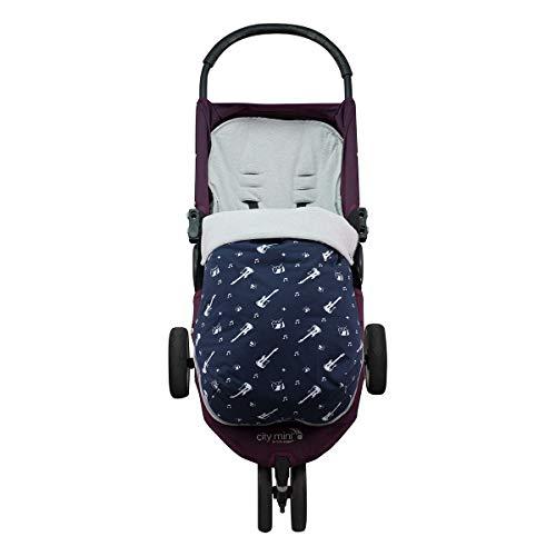 Manoplas cochecito silla de paseo estampados con relleno polar para invierno Estrellas Gris Guantes Carrito Beb/é Guante manos calientes