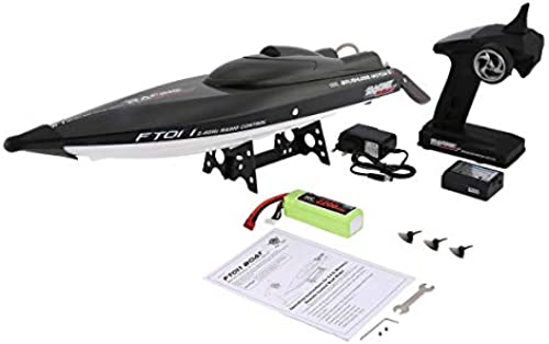Gugutogo Feilun FT011 65cm 2.4G 2CH RC 55km h High Speed Racing Boat Ship Speedboat with Water Cooling System Flipped Brushless Motor