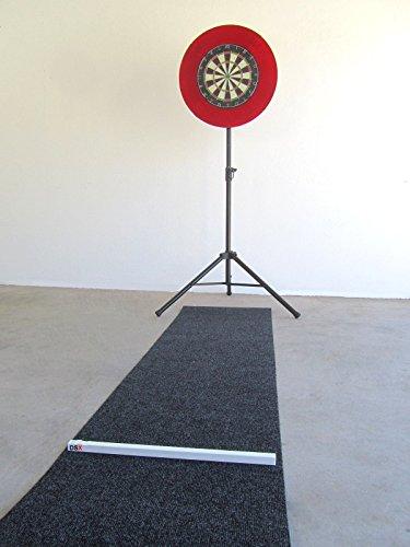 Steel Dartboard im Komplett-Set. Board-Matte-Oche-Ständer-Catchring. Dart Set