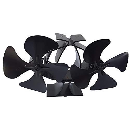HkFcle Chimenea Ventilador, Funcionamiento silencioso de Ventiladores Estufa de Madera con 8 Hojas for Madera/Estufa de leña/Chimenea, ecológico y eficiente distribución del Calor