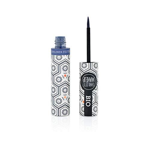 CHARLOTTE MAKE UP - Les Yeux - Eye Liner Feutre BIO - Bleu nuit - Intensifier le Regard -4ml