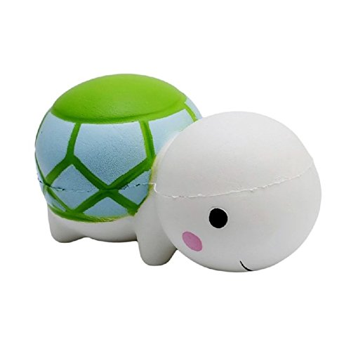 CHoppyWAVE Squeeze Toys Stress Relief, Soft Cartoon Turtle Squishy Slow Rising Stress Reliever Kids Adults Squeeze Toys - White