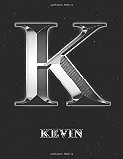 Kevin: 1 Year Daily Planner (12 Months) | Silver Effect Letter K Initial First Name | 2020 - 2021 | 365 Pages for Planning | January 20 - December 20 ... | Plan Each Day, Set Goals & Get Stuff Done
