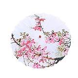 Nesee DIY Paper Umbrellas, Classical Handmade Oil Paper Umbrella Painting Dancing Props Rainproof Parasol with Plum Blossoms & Wooden Handle