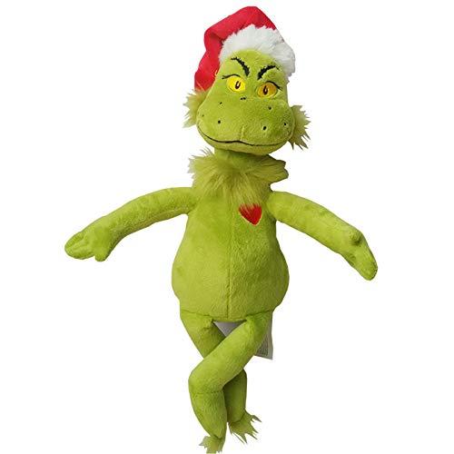 Plush Toys Cómo el Grinch robó la Navidad Grinch Doctor 39cm Seuss Dibujos Animados Cosas Lindas Peluche Doll Doll Niños Regalo de cumpleaños Plush toysYlcxdm (Color : Green)