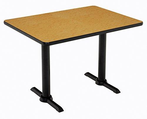 "KFI Seating Mode Multipurpose Table 30"" x 60"" Top Medium Oak -  T3060-B2065-BK-MO-38"