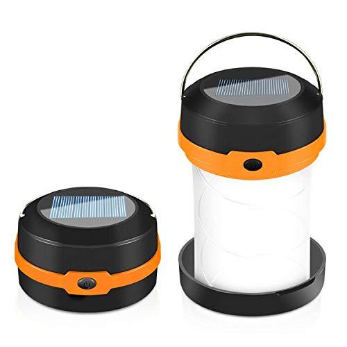 Camping Laterne Taschenlampe Zusammenklappbar, Nasharia Faltbare Camping Lampe Leuchte Hängen, eignet für Camping, Outdoor, Wandern, Angeln, Abenteuer, Unterstützung Solar-Lade-und USB-Lade