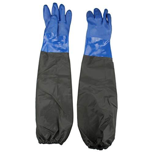 Anelku PVC Sandstrahlerhandschuh, wasserdicht, für Aquarium, Teichpflege Handschuhe
