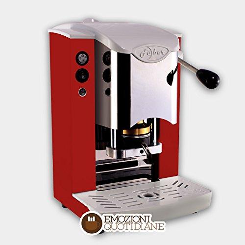 MACCHINA CAFFE A CIALDE IN CARTA ESE 44MM FABER SLOT INOX (ROSSO)