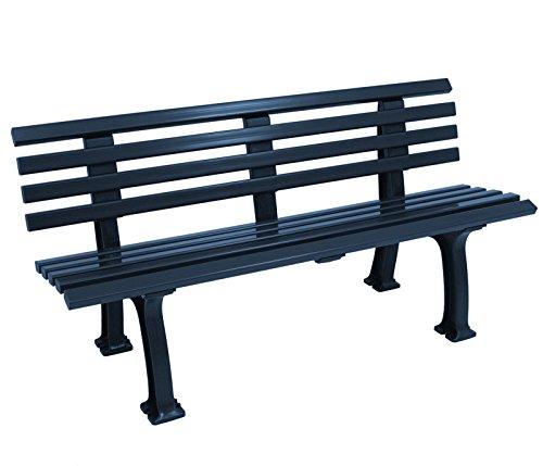 gartenmoebel-einkauf Wetterfeste Parkbank 3-sitzer, Kunststoff blau