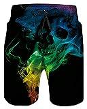 Alistyle Mens Swimming Trunks 3D Skull Print Swim Suit Summer...